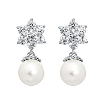 Pica LéLa Snow White Pearl Earrings