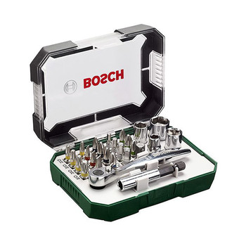 Bosch Screwdriver Bit and Ratchet Set 26pcs