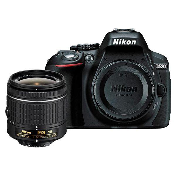 Nikon D5300 DX-Format DSLR Camera w/ AF-P 18-55 VR Lens Image