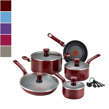 T-fal EXCITE Nonstick Cookware Set w/ Thermo-Spot™ 14pcs