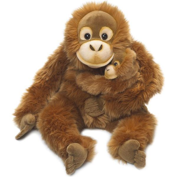 WWF Orangutan Mother & Child Plush Animal Image