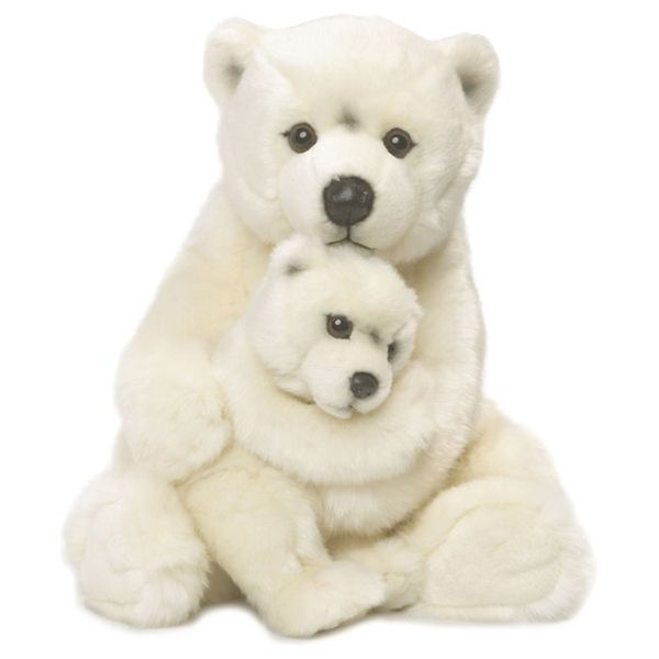 WWF Polar Bear Mother & Child Plush Animal Image