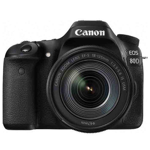 Canon EOS 80D DSLR Camera with EF-S 18-135mm IS USM Lens Kit Image