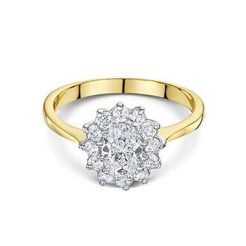 Buckley London Two-Tone Flower Ring