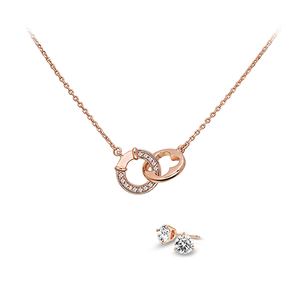 Pica LéLa LUCKY & WISH Crystal Pendant Necklace & Earrings Set Image