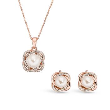 Pica LéLa GRACE Crystal Pendant Necklace & Earrings Set