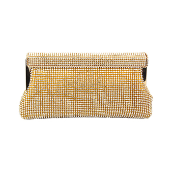 Moliabal Clutch Bag with Chain - Gold