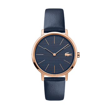 Lacoste MOON Ladies Watch with Leather Strap − Blue