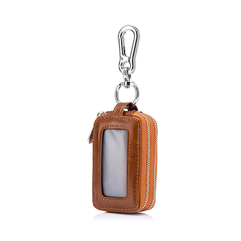 Trends Two-Sides Mini Leather Universal Car Key Case