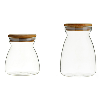 Trends Glass Storage Jar Set - 2pcs